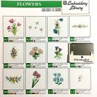 Flowers Embroidery Designs Card for Husqvarna Viking Embroidery Machines 2303