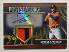 George Springer 2021 Topps Postseason Patch Auto Autograph Astros Jersey # 25