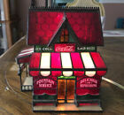 FRANKLIN MINT COCA COLA STAINED GLASS CORNER STORE 1995 LIGHTED