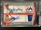 2020 Topps STEPHEN STRASBURG & BRYCE HARPER All Star Game TAG PATCH AUTO 1 1