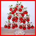Beautiful Glass Crystal Apple Tree 36 pcs Fengshui Craft Hanging Ornament Gift