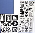 Diamond Press Cat Feline Dies Clear Stamps Rare HTF Sayings Cat Scratching Pole
