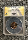 1970 S LINCOLN CENT DDO DOUBLE DIE OBVERSE FS 101 ANACS MS62 RED Large Date RARE