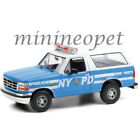 GREENLIGHT 19087 1992 FORD BRONCO 1 18 DIECAST NYPD NYC POLICE CAR LIGHT BLUE