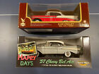 LOT 2 Chevy Bel air 118 diecast cars lot 2 White 1957 Happy days + Red 1956