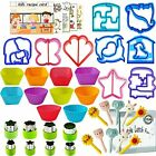 Sandwich Bread Cutters Shapes Set for Kids Vegetables Fruits Cheese Shapes Mo