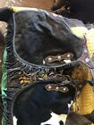 Custom Cow Hide With Hair On Cowboy Leather Chaps Working Or Show Or Rodeo