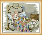 The Old Married Couple 14CT Stamped Cross Stitch Kits Printed DMC Embroidery