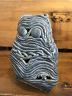 Unusual face jug 3 sided triangle shaped Each side has different face Owl