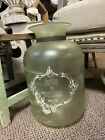 Light Green Frosted Glass Vase Small