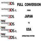 Service Fully Convert Change 3DS or 2DS From Japan Region to USA Working eShop