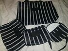 Trendy Aloha Collection Bags set Tote pouches fanny 4 pieces New black white