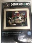 RARE Dimensions THE COOLIDGE DOGS Needlepoint Kit Dogs Playing Poker 2474 NEW