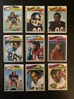 1977 Topps Mexican 9 card lot - tough set to complete