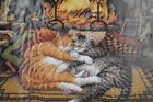 Dimensions All Burned Out Cats Needlepoint Kit Picture Fireplace Wysocki 20007