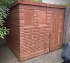 8 X 6 FT Pent Overlap Garden Shed Used