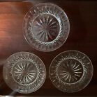 SET OF 3 WATERFORD CRYSTAL 8 LISMORE SALAD DESSERT LUNCHEON GLASS PLATES