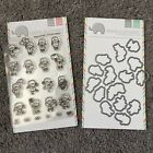 Mama Elephant LITTLE GIRL AGENDA Clear Stamps and Cutting Craft Die set