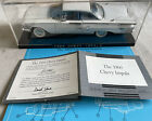 Franklin Mint 1960 Chevy Impala 124 Scale Diecast Model Car White with Case