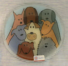 Peggy Karr Fused Glass 8 Handmade Plate With Dog Design Signed