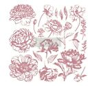 Linear Floral Clearly Aligned Decor Stamp Redesign With Prima Flowers