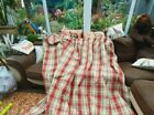 Pure Wool Heavy Tartan Lined Curtains, Bespoke 102 In W Ea X 52d (not polyester)