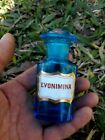 Antique Small Apothecary Blue Glass Bottle Jar Pharmacy 4