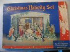Vtg Christmas Nativity Set Cardboard Cutouts The Story of the First Christmas