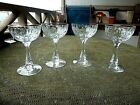 TG HAWKES SIGNED AMERICAN BRILLIANT CUT CRYSTAL SET OF FOUR CHAMPAGNE GLASSES