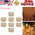 Gold Crystal Tea Light Candle Holders Set of 8 Votive Candle Holders Centerpiec