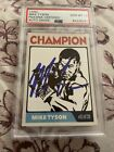 Mike Tyson Boxing Cards and Autographed Memorabilia Guide 29
