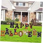 Happy Halloween Yard Signs 14Pcs Outdoor Lawn Decorations with Stakes Large