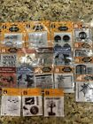 LOT Of 18 Clear Mini And Regular Stamps HALLOWEEN BRAND NEW