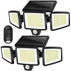 Solar Motion Sensor Lights with Remote Control 264 LED 2500LM Waterproof 2 Pack
