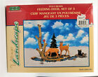 LEMAX Village Landscape Feeding Deer Christmas House Accessory with Box 3 pc set