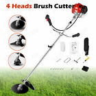 62CC 4 In 1 Straight Shaft String Trimmer Gas Power Weed Eater BrushCutter Tool
