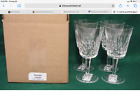 Waterford LISMORE Water Goblets SET OF FOUR More Items Here MINT IN BOX