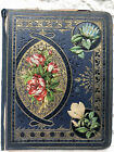 Beautiful Antique Victorian Scrapbook full of Lovely Diecuts