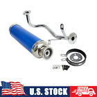 Performance Exhaust System Kit Head Pipe Gaskets For GY6 50cc 4T QMB139 Scooters
