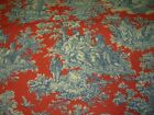 10 YDS WAVERLY VICTORIAN TOILE RUSTIC LIFE COTTON UPHOLSTERY FABRIC FOR LESS