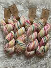 Yarn Bee Authentic Hand Dyed Yarn SUPERNOVA WO476878 Lot 4 Skeins NEW 1600 yds