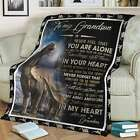 To My Grandson You are Not Alone Funny Birthday Gift Throw Blanket Vintage