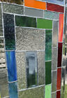 Gorgeous Stained Glass Window W Beveled Corners  Architectural Glass 23x14
