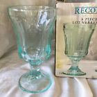 4 Indiana Glass Recollection 6 1 2 Water Goblets Teal Aqua November Hold