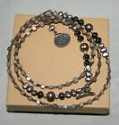 Silpada Sterling Silver Hematite Glass Pearls  Shell Lariat Necklace N1784