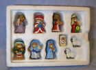 LUCY AND ME TEDDY BEAR MINI PEWTER NATIVITY 1990 LUCY RIGG IN ORIGINAL BOX