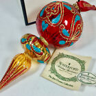 Waterford Jim OLeary Sapphire drop Christmas ornament 8  139356 boxed E