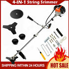 58CC 4 In 1 Straight ShaftString Trimmer Gas Power Weed Eater Brush Cutter Tool