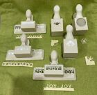 Lot of 6 MARTHA STEWART Punches Edge Border Corner Stamps Christmas Holiday