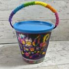 Vintage Lisa Frank Craft Bucket Creative Collectible Colorful Poms Beads RARE